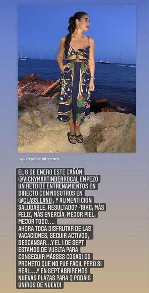 Vicky Martín Berrocal pierde 18 kilos