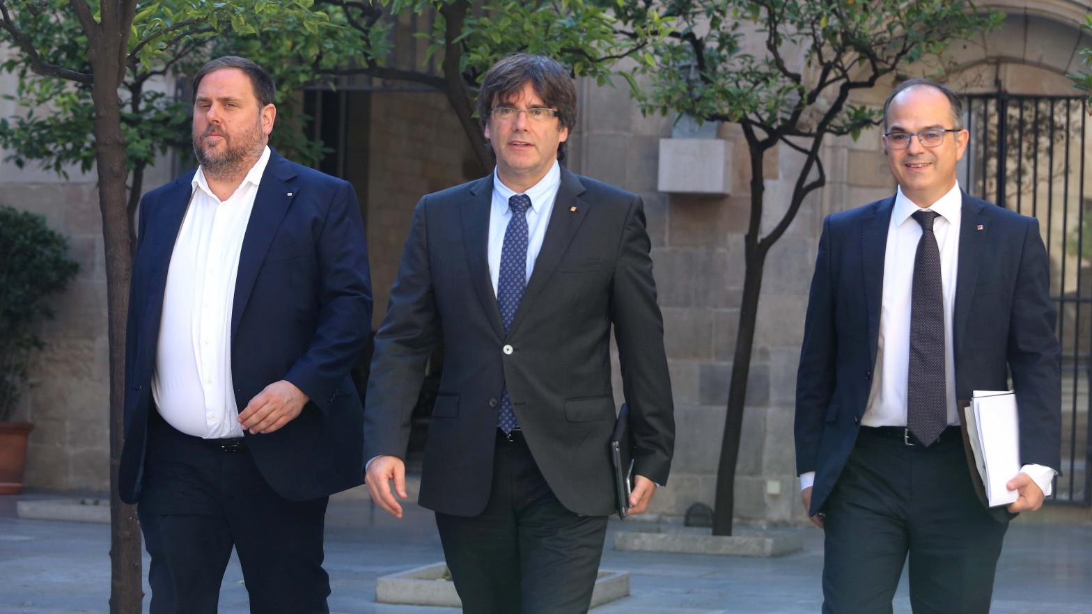 Puigdemont y Junqueras se reencuentran en Waterloo.
