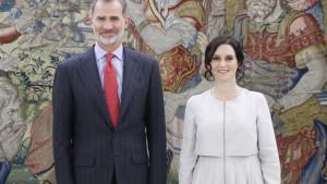 El rey Felipe VI recibe este miércoles a Isabel Díaz Ayuso en una audiencia en la Zarzuela
