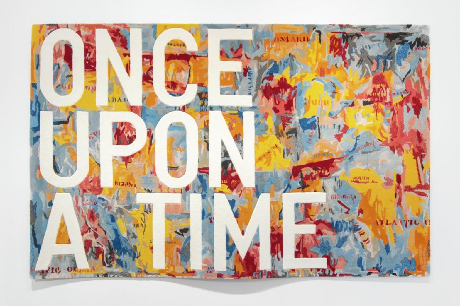 Obra del artista Rirkrit Tiravanija, plasmada sobre una alfombra y valorada en 170.00 euros