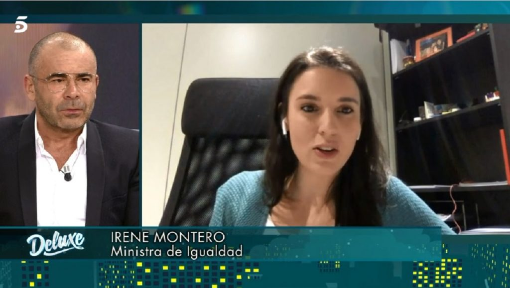 Irene Montero, en una videollamada con Sálvame