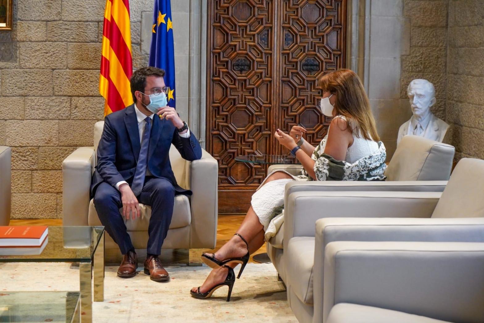 """Borràs desafía al Gobierno: """"A falta de un nuevo referéndum"""" rige el resultado del 1-O"""