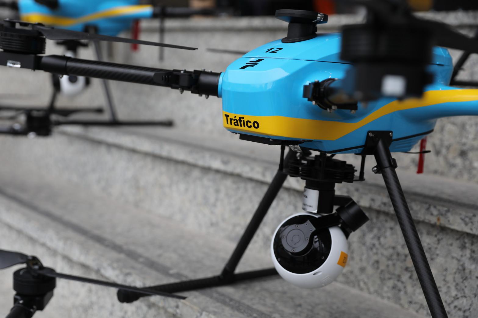 39 drones deplegados por la Península para controlar el tráfico en verano.