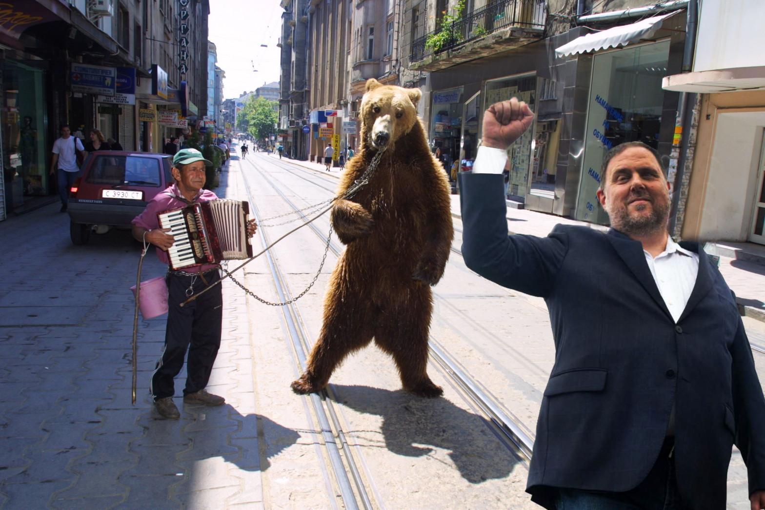 Oriol Junqueras y la desdicha del oso búlgaro