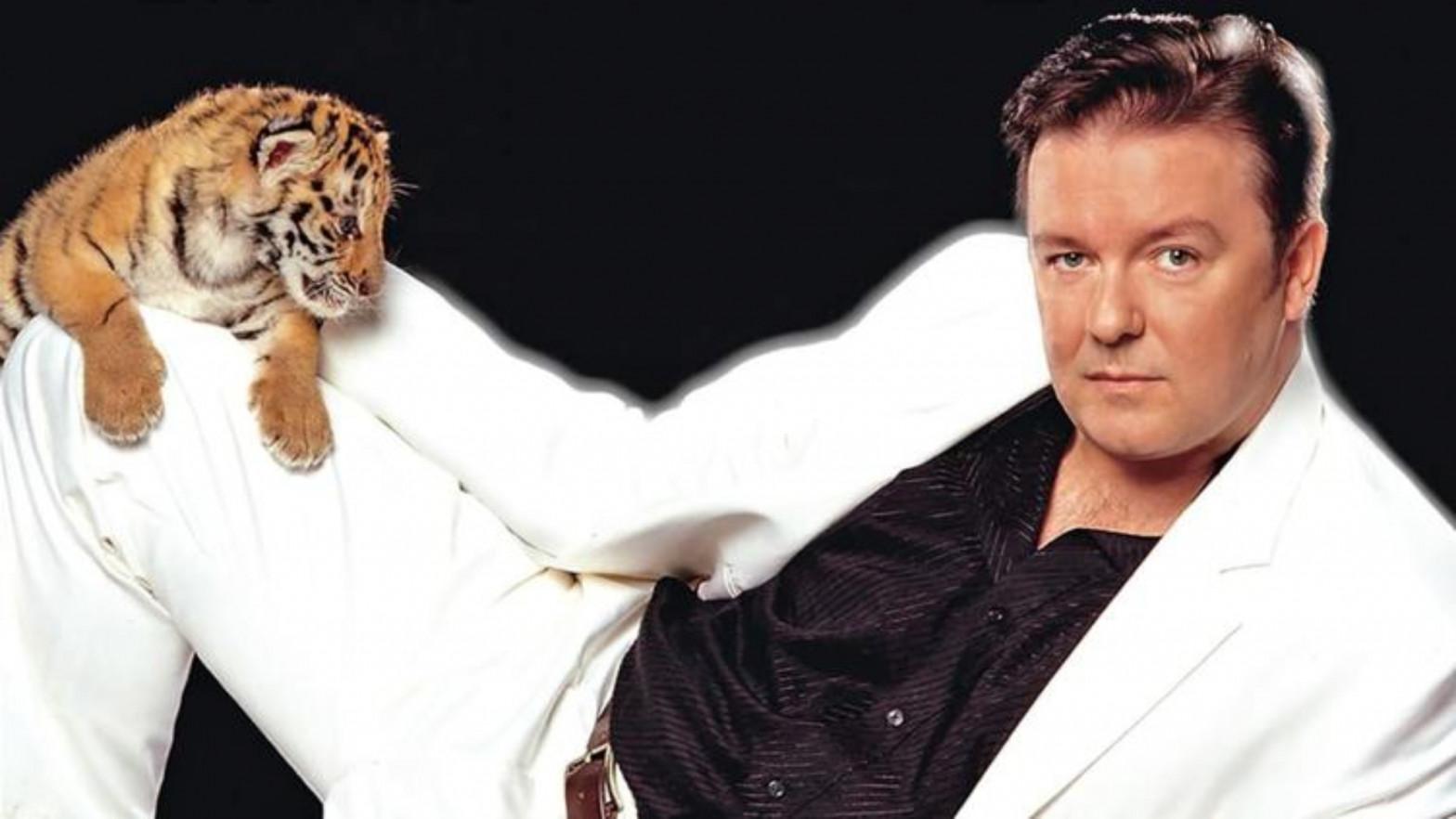 """Póster promocional del espectñaculos """"Animals"""", de Ricky Gervais"""
