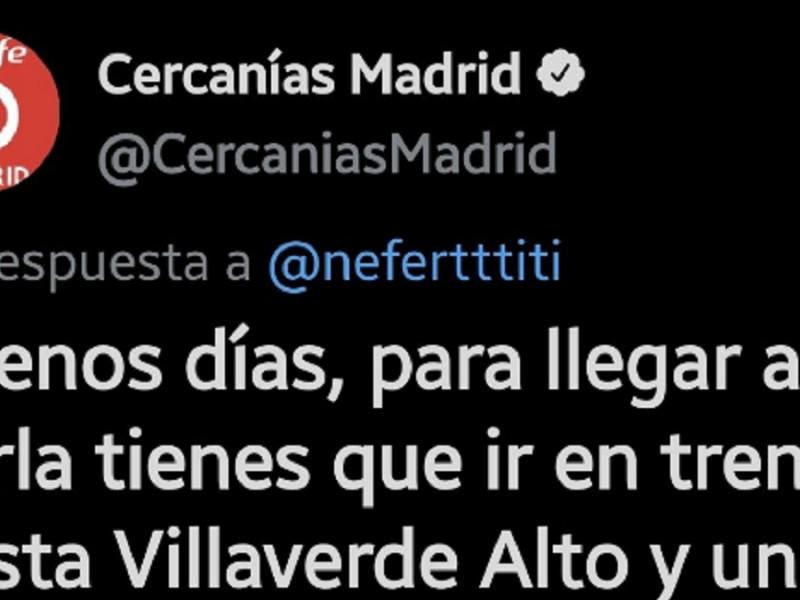 Bromas y memes tras la enrevesada explicación que le da Cercanías Madrid a una usuaria