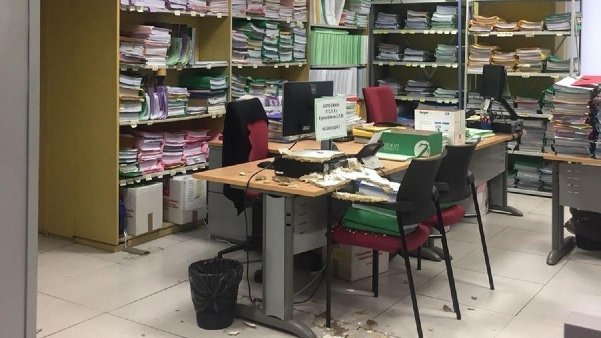 Interior de un juzgado mercantil de Madrid, una imagen de 2018.