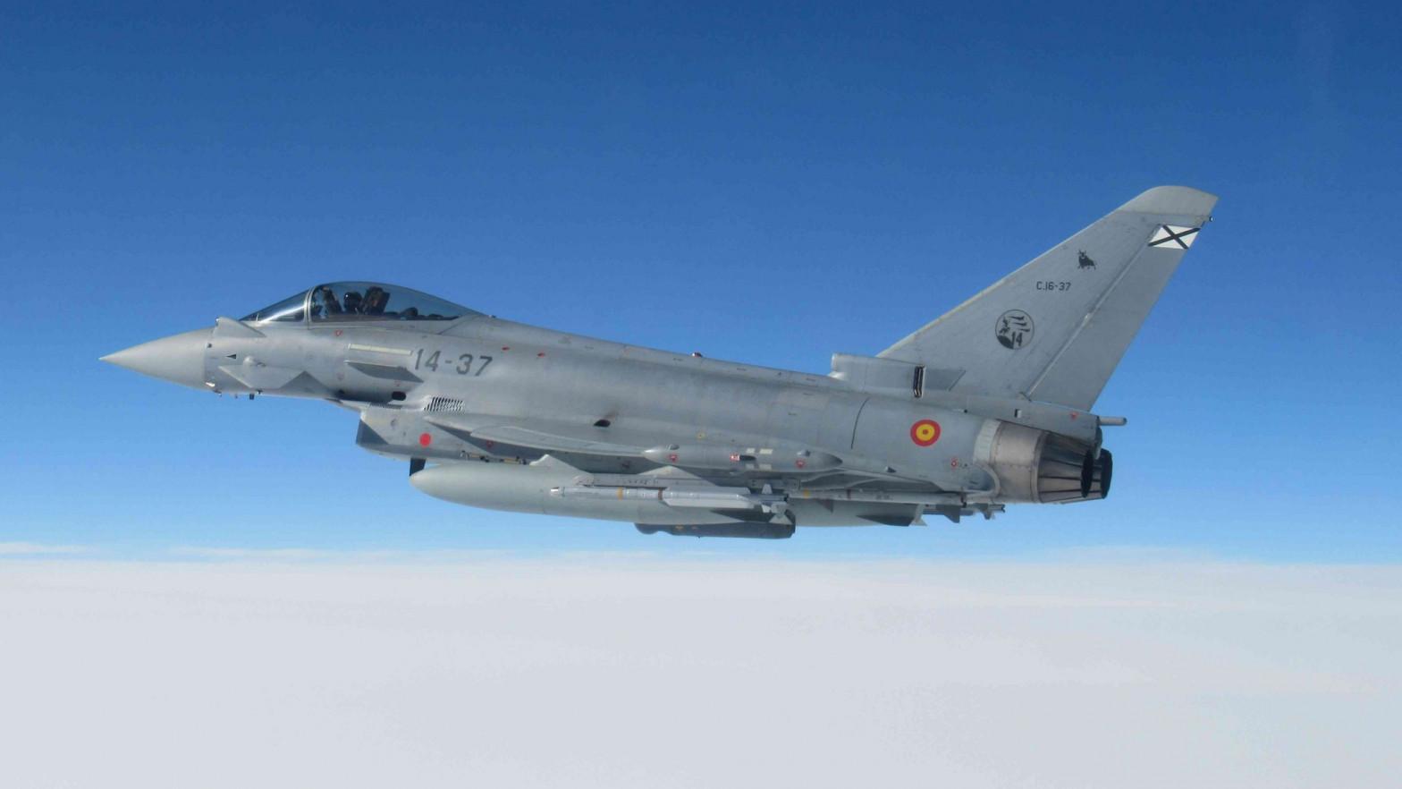 Eurofighter español en su despliegue en Lituania