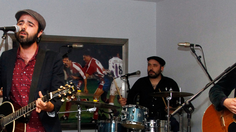 El grupo de rock Sidecars, enre el Wanda Metropolitano
