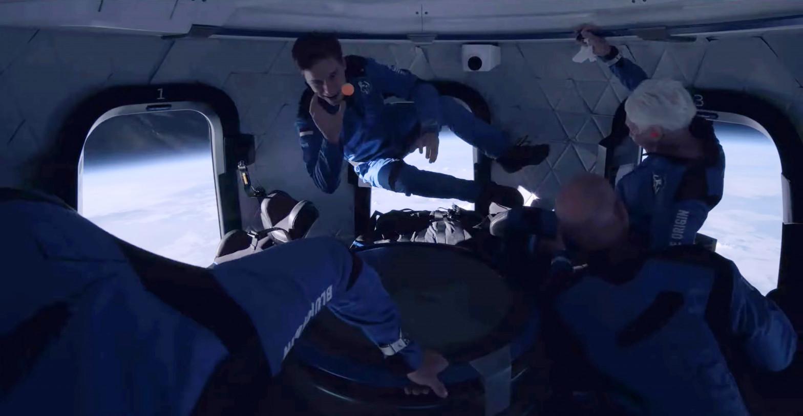 Imagen de archivo de lanzamiento de Jeff Bezos y el New Shepard