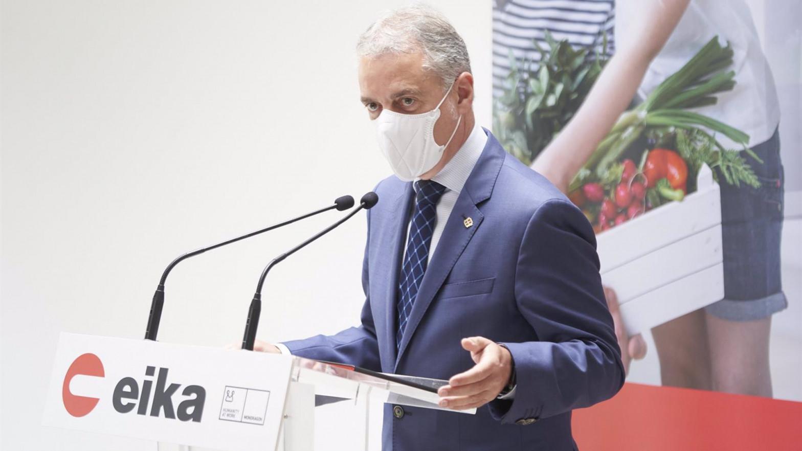 Urkullu pide a Sánchez la obligatoriedad de la mascarilla y limitar la movilidad nocturna