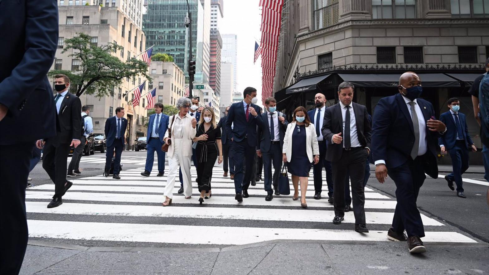 """Sánchez garantiza """"estabilidad"""" y """"certidumbre"""" a los inversores americanos"""