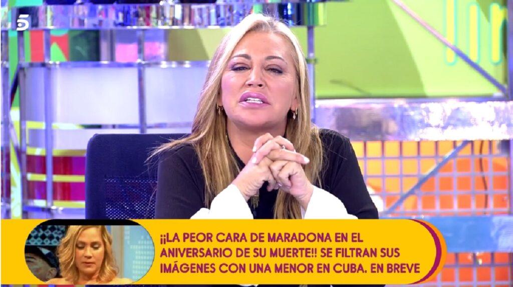 Belén Esteban explodiert gegen Jesulín de Ubrique wegen der unterschiedlichen Behandlung der beiden Töchter